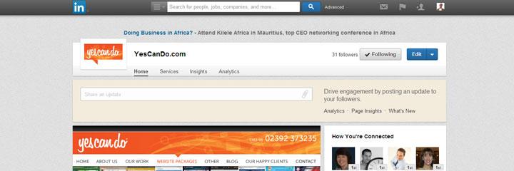 web design: use linkedin for business